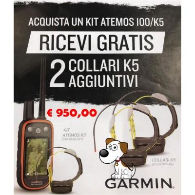 Garmin Kit Atemos 100/K5 + 2 collari K5 in omaggio