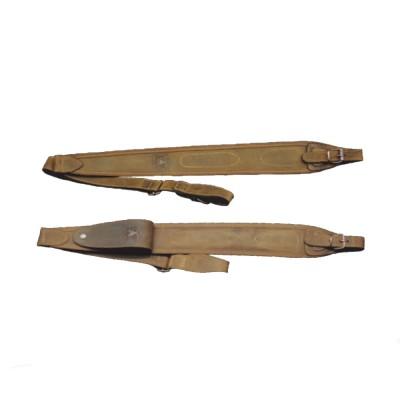 Bretella per carabina in pelle idrorepellente con portacolpi