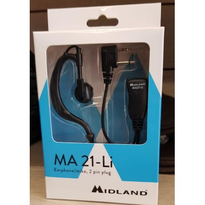 Midland MA21-L Auricolare a padiglione con microfono
